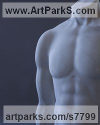 Colorado Marble Human Figurative sculpture by Sherry Tipton titled: 'Beautiful Man'