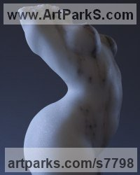 Colorado Marble Figurative Abstract Modern or Contemporary Sculptures Statues statuary statuettes figurines sculpture by Sherry Tipton titled: 'Torso'