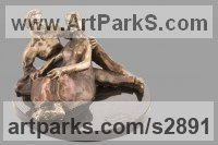 Bronze Love / Affection sculpture by sculptor Shohini Ghosh titled: 'you and me (Convivial Bronze Man and Girl, Male and female Sitting statue)'