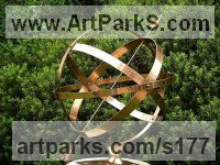 Bronze Sundials sculpture by Silas Higgon titled: 'Armillary Spheres (Brass Sundial Traditional/Historical)'
