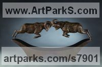 Bronze Animals and Humans Sculptures, Statues and Statuettes sculpture by Simon Gudgeon titled: 'Battering Rams'