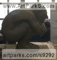 To be bronze Fantasy sculpture or Statue sculpture by Simon Mahoney titled: 'Curled grotesque'