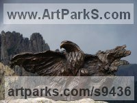 Bronze Birds in Flight, Birds Flying Sculptures or Statues sculpture by Stephane Deguilhen titled: 'Bald Eagle'