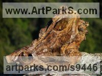 Bronze Animal Birds Fish Busts or Heads or Masks or Trophies For Sale or Commission sculpture by Stephane Deguilhen titled: 'Head of Wild Boar (Bronze Sanglier Bust statue)'