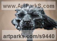 Bronze Cats Wild and Big Cats sculpture by Stephane Deguilhen titled: 'Snow Leopard Shadow of the mountain (sculpture)'