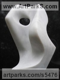 Carrara Marble Abstract Modern Contemporary sculpture statuettes figurines statuary sculpture by sculptor Steve King titled: 'Etude'