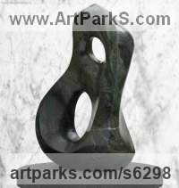Serpentine Abstract Modern Contemporary sculpture statuettes figurines statuary sculpture by sculptor Steve King titled: 'Foreplay (Small Carved stone Indoor Contemporary statue/statuette)'