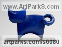 Bronze Domestic Animal sculpture by Stephen Page titled: 'C@ I (Minimalist bronze Little Cat sculptures/statue)'