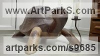 Sapelli Wood Carved or Carving sculpture by STEPHEN TOPFER titled: 'Tortuga (Carved Wood Tortoise life size sculpture)'
