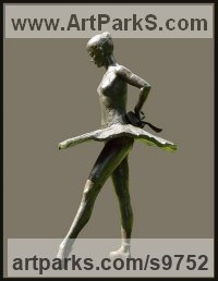 Bronze Dance Sculptures and Ballet sculpture by KELSEY titled: 'File #249 Balanchine`s Dancer'