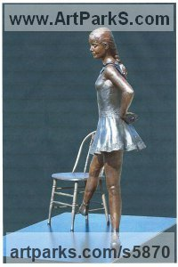 Bronze Dance Sculptures and Ballet sculpture by KELSEY titled: 'File #290 Diaghilev`s Daughter'