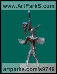 Bronze Dance Sculptures and Ballet sculpture by Kelsey titled: 'File #183 Fay'
