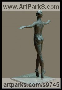 Bronze Dance Sculptures and Ballet sculpture by Sterett-Gittings Kelsey titled: 'Hillary Ellison of Marthas-Vineyard'