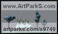 Bronze Figurative Abstract Modern or Contemporary Sculptures Statues statuary statuettes figurines sculpture by KELSEY titled: 'File #192 Park Dancing'