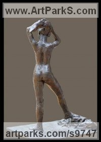 Bronze Indoor figurative sculpture by Kelsey titled: 'File #275 Peter'