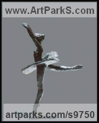 Bronze Dance Sculptures and Ballet sculpture by Kelsey titled: 'File #253 Robert'
