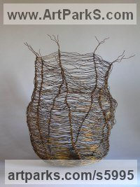 Wire Organic / Abstract sculpture by sculptor Tabitha Sheehn Davis titled: 'Porifera'