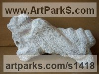 Prehistoric Monsters Sculpture and Mthical Monsters like Dragons and Hypogriphs by sculptor artist Tania Ivanova Tzanova titled: 'Wounded Dragon (abstract stone/marble garden Carving/sculptures/statue)' in Marble