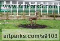 Willow Deer sculpture by Tessa Hayward titled: 'Fawn'
