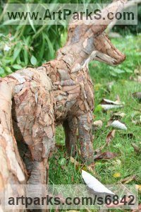 Dog sculpture by Tessa Hayward titled: 'vixen (female fox)'