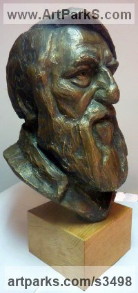 Bronze resin Busts and Heads Sculptures Statues statuettes Commissions Bespoke Custom Portrait Memorial Commemorative sculpture or statue sculpture by Thomas Brown titled: 'Marcus (Male Portrait Bust Head Commission statue)'