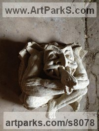 Bath Stone Architectural sculpture by Thomas J. Nicholls titled: 'Bespoke Boss stone Commission'