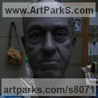 Clay Subswequently cast in bronze Portrait Sculptures / Commission or Bespoke or Customised sculpture by Thomas J. Nicholls titled: 'Bespoke Portrait commission'