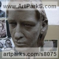 Clay subsequently cast in Bronze Portrait Sculptures / Commission or Bespoke or Customised sculpture by sculptor Thomas J. Nicholls titled: 'Portrait sculpture Commission (Custom Commemorative Bust Head)'