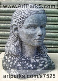 Limestone Sculptures of females by Thomas Kenrick titled: 'Amelia 3D'