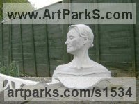 Busts and Heads Sculpture Statues statuettes Commissions Bespoke Custom Portrait Memorial Commemorative sculpture or statue by sculptor artist timothy blackwood titled: 'Julie (Bust Portrait of Beautiful Woman sculptures)' in Concrete