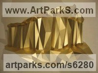 Foil-backed mountboard Conceptual Art Sculptures Statues often Large or Monumental Abstract Art sculpture by Toby Short titled: 'Hiatus (Cristaline Rock Formation Interior Wall Decoration)'