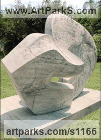 Stone Architectural sculpture by sculptor Todor Todorov titled: 'Eternal Universe Big Contemporary Modern statues'