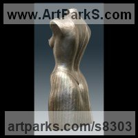 Bronze Torsos Chests Females / Women / Girls / Damsels Sculptures Statues statuary sculpture by Ton Voortman titled: 'Premi�re (nude Naked Lifesize Woman`s Torso statue)'