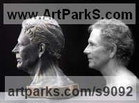 Ceramic, Canadian giant maple, flint Commemoratives and Memorials sculpture by Tony Mayo titled: 'Bust, (Self-Portrait Commission Custom or Bespoke statue)'