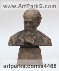 Bronze Busts and Heads sculpture statuettes Commissions Bespoke Custom Portrait Memorial Commemorative sculpture or sculpture by sculptor Valery Yevdokimov titled: 'Bust of F.M. Dostoevsky (Bronze Portrait statues)'