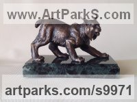 12 Cats Wild and Big Cats sculpture by Vitaliy Semenchenko titled: 'Wild Cat (Bronze Little sculpture statue)'