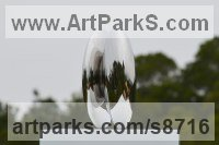 Stainless Steel Stainless Steel Abstract Contemporary Modern sculpture by Wenqin Chen titled: 'Be In Here II No 2'