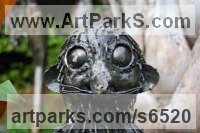African Art Sculpture Statuary sculpture by sculptor Mary Wildlife Garden Creations titled: 'Baby Meerkat (Metal life size statue)'