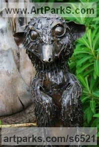 Small Animal sculpture by sculptor Mary Wildlife Garden Creations titled: 'Meerkat (African Wild Life statues)'