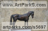 Bronze Horses Small, for Indoors and Inside Display sculpturettes Sculptures figurines commissions commemoratives sculpture by sculptor Yanina Antsulevich titled: 'Ovana (Little/Small Bronze Thoroughbred Mare/Horse sculpture/statue)'