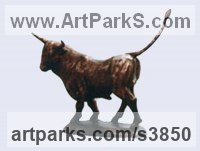 Bronze Cattle, Kine, Cows, Bulls, Buffalos, Bullocks, Heifers, Calves, Oxen, Bison, Aurocks, Yacks sculpture by Zakir Ahmedov titled: 'Bull (Little ronze Bull Strutting and Pacing Proudly sculptures)'