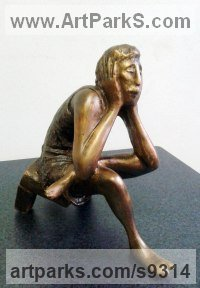 Figurative Public Art sculpture by Zakir Ahmedov titled: 'Meditation'