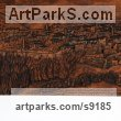 Carved Beech Wood Landscape Mountains Countryside Sculptures Statues statuettes sculpture by Adrian Arapi titled: 'Berati Castle (Carved Wood Panel relief Wall statues)'