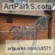 Metal Abstract Contemporary or Modern Large Public Art sculpture statuary sculpture by sculptor Adrian Payne titled: 'Horse'