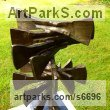 Iron Abstract Contemporary Modern Outdoor Outside Garden / Yard sculpture statuary sculpture by sculptor Adrian Payne titled: 'Relic (Contemporary abstract Iron garden/Yard Spiral statue/sculpture)' - Artwork View 3