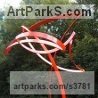 Steel Organic / Abstract sculpture by sculptor Adrian Payne titled: 'Study of Arcs No.1'