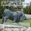 Bronze Animal Kingdom sculpture by �gnes Nagy titled: 'Bull'