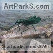 Bronze Insect Sculptures, to include Bees, Ants, Moths Butterflies etc sculpture by �gnes Nagy titled: 'Dragonfly'