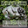 Glazed fireclay Pigs, Sows, Boars, Hogs, Piglets Sounders Sculptures or sculpture by sculptor �gnes Nagy titled: 'Wild Boar (ceramic Stylised Contemporary abstract Wild Pig statue)'