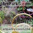Scrap Metal Garden Or Yard / Outside and Outdoor sculpture by sculptor Alan Jack titled: 'Pair of Running Birds' - Artwork View 1